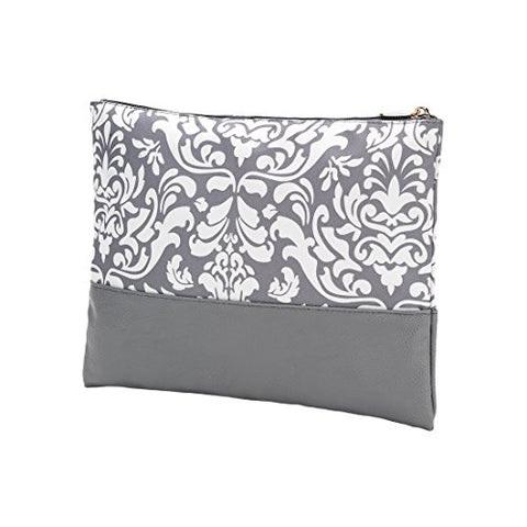 VIV&LOU High Fashion Zippered PouchCan be PERSONALIZED (Ella Gray Parisian Print)