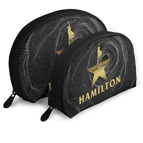 Gltiosr Musical Hamilton Star Logo Womens Shell Portable Travel Toiletry Bags Clutch Pouch Cosmetic