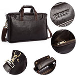 BOSTANTEN Leather Briefcase Laptop Case Handbag Business Bags for Men Brown