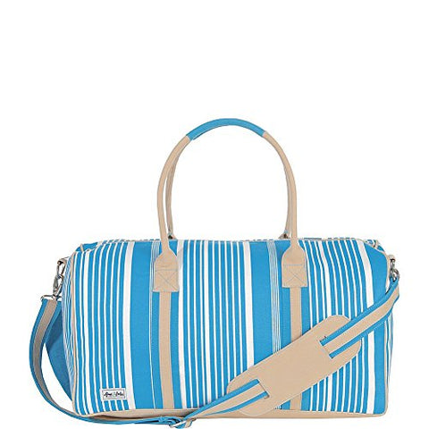 Ame & Lulu Puddle Jumper Small Duffel (Ticking Stripe)