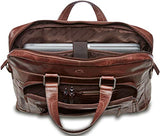 "Mancini Single Compartment 15.6"" Laptop/Tablet Briefcase in Burgundy"