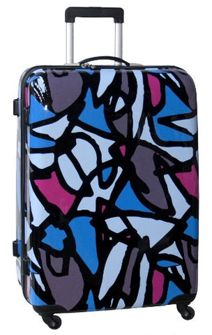 Ed Heck Luggage Scribbles 25 Inch Hardside Spinner , Blue, One Size