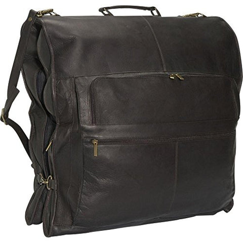 "David King Leather 52"" Deluxe Garment Bag In Cafe"
