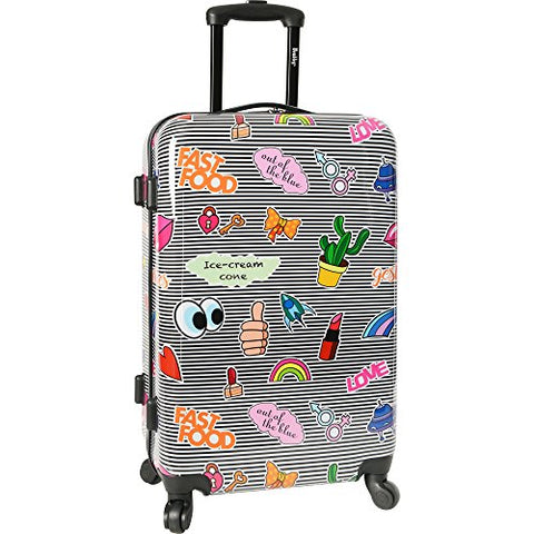 "Wembley Men'S 20"" Hardside Carry-On 4Wheel Spinner Luggage, Ice Cream"
