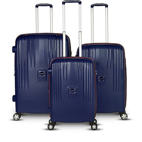 Gabbiano Gallo 3 Piece Expandable Hardside Spinner Luggage Set (Midnight Blue)