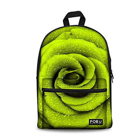 Freewander Creative Personalized Print Casual Canvas Backpack Canvas Daypack for Kids