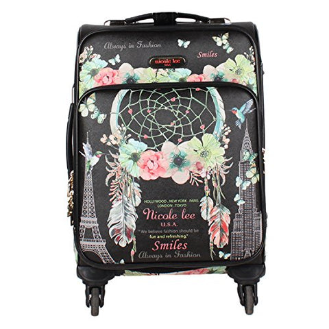 "Nicole Lee Women'S 20"" 4 Wheels Expandable Carry-On Luggage Dream Catcher Print, Dream Comes True"