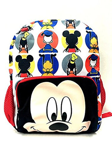 Disney Mickey Mouse Big Face 12 inch All Over Toddler Size Backpack
