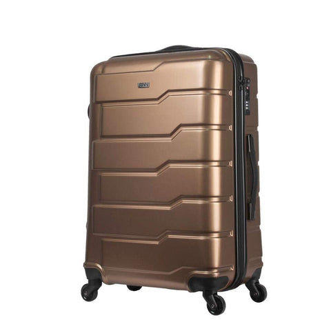 Travel Boarding Case, Universal Wheel Abs Zipper, Travel Outdoor Boarding Case Gift Gift Box Travel Air Travel Case, Copper, 20 inch