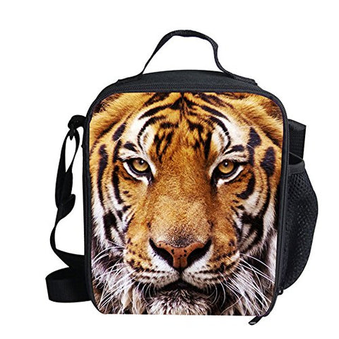 doginthehole Animal Printed Lunch Bag for Kids Crossbody Waterproof Thermal Case