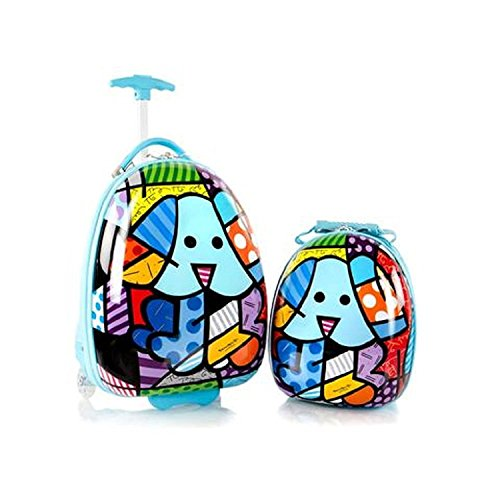 "Heys Britto for Kids 2pc- 18"" Luggage and 15"" Backpack Set - Blue Dog"