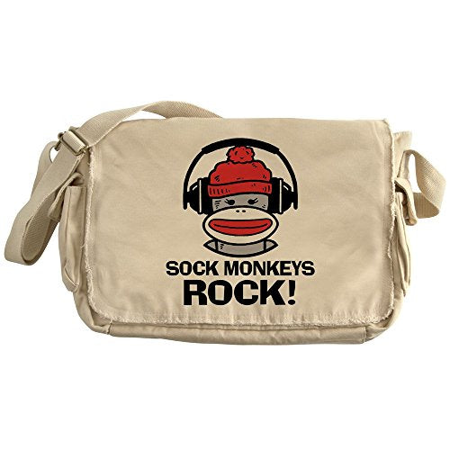 CafePress - Sock Monkeys Rock - Unique Messenger Bag, Canvas Courier Bag
