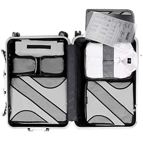 BAGAIL 6 Set Packing Cubes Multi-Functional Luggage Packing Organizers for Travel Accessories
