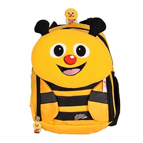 CUTIES AND PALS KIDS SMALL BACKPACK WITH PILLOW LUNCH BAG - BEE