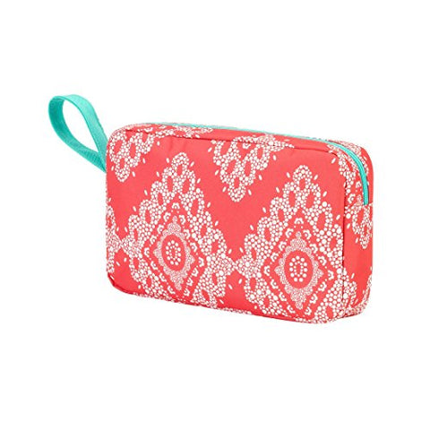 Coral Cove 6.5 X 10 Inch Womens Full Top Zipper Cosmetic Bag With Handle