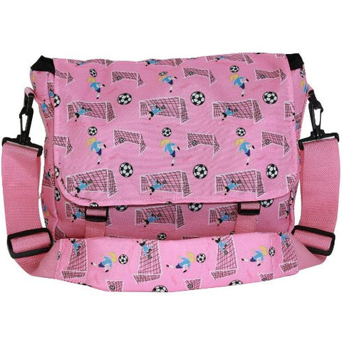 Wildkin 27030 Girl Soccer Messenger Bag