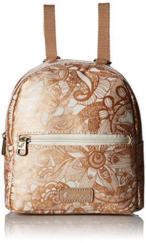 Sakroots Women'S Mini Crossbody Backpack, Rose Gold Spirit Desert