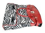 Trendy Flyer Computer/Laptop Rolling Bag 2 Wheel Case Zebra Red