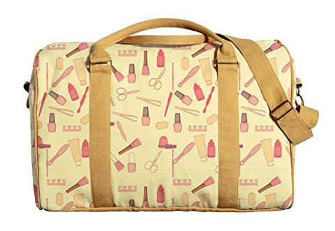 Beauty Salon Pattern Printed Oversized Canvas Duffle Luggage Travel Bag Was_42