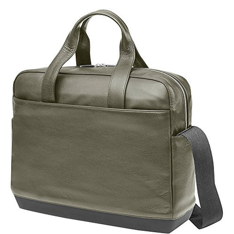 Moleskine Classic Leather Briefcase (Moss Green)