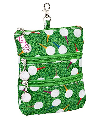 Sydney Love Sport Teed Off Clip On Zip Pouch, Green Multi