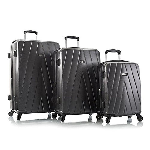 "Leo by Heys - Legacy Hard Side Spinner Luggage 3pc Set - 31"", 27"" & 21.5"" (Carbon Fiber)"