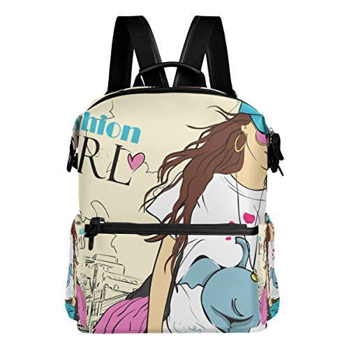 ColourLife Fashion Girl Stylish Casual Shoulder Backpacks Laptop School Bags Travel Multipurpose Daypack for Women Girls Kids