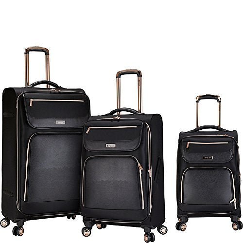 Kensie Luggage Kensie 3-Piece Softside Luggage Set, Black