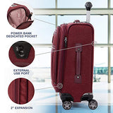 "Travelpro Luggage Platinum Elite 20"" Carry-on Expandable Business Spinner w/USB Port, Bordeaux"