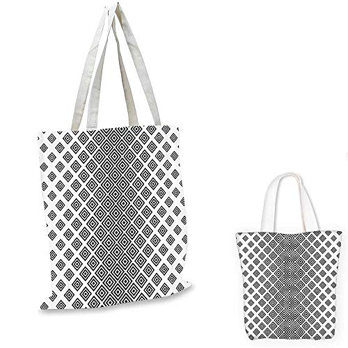 Abstract shopping bag Vertical Square Shaped Geometric Pattern Minimalist Modern Style Trippy