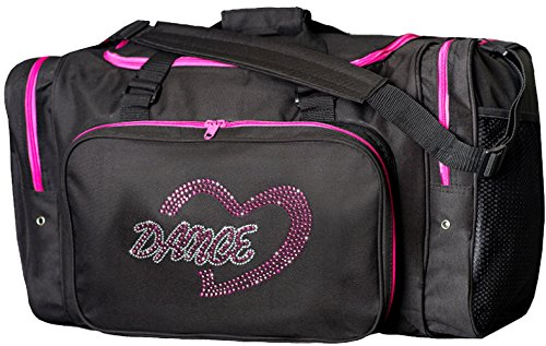 "Sassi Designs Dance Heart 22"" Black Duffel Bag"