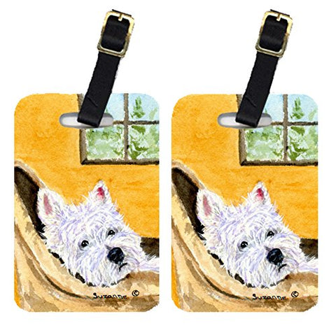 Carolines Treasures Ss8785Bt Westie Luggage Tag - Pair 2, 4 X 2.75 In.