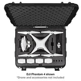 Nanuk DJI Drone Waterproof Hard Case with Wheels and Custom Foam Insert for DJI Phantom 4/ Phantom 4 Pro (Pro+) / Advanced (Advanced+) & Phantom 3 - 950-DJI43 Orange