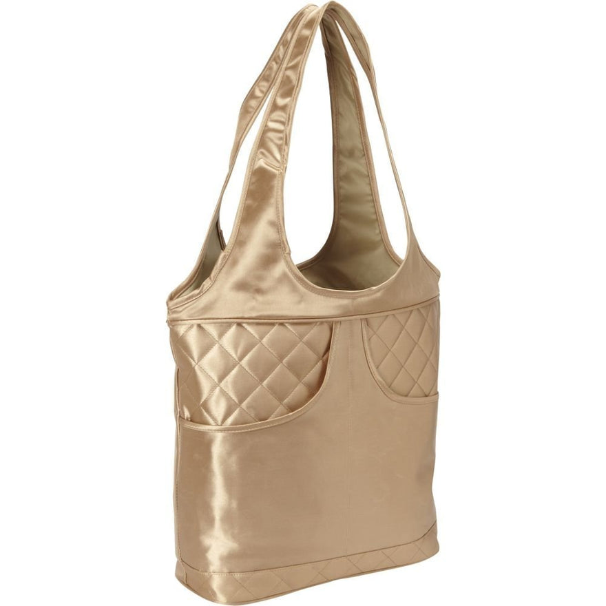Bellino Women's Savvy Shoulder Tote, Gold