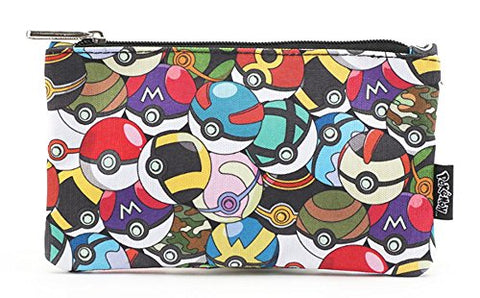 Pokemon by Loungefly Multi Pokeballs School Pencil Case or Cosmetic Bag