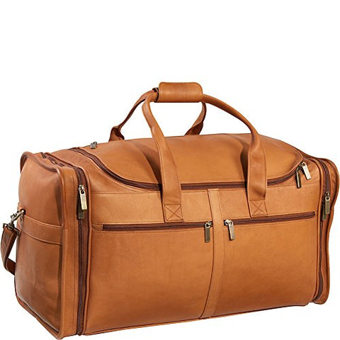 Ledonne Adult Leather Classic Cabin Duffel, Tan