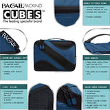 BAGAIL 4 Set Packing Cubes,Travel Luggage Packing Organizers with Laundry Bag Navy