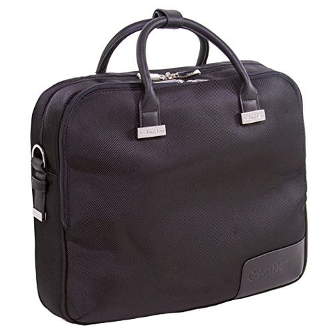 Calvin Klein Dylan Case Laptop Briefcase, Brown, One Size
