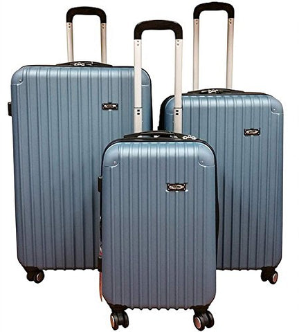 Kemyer New 700 Plus Series Lightweight 3-Pc Expandable Hardside Spinner Luggage Set (Saphire Blue)