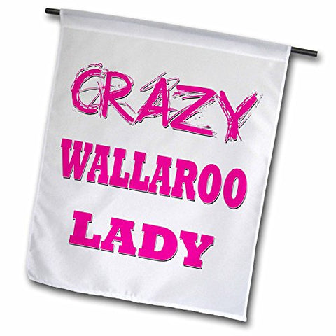 3dRose Crazy Wallaroo Lady - Garden Flag, 12 by 18""