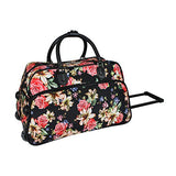 World Traveler 21-inch Carry-on Rolling Duffel Bag, Flower Bloom, One Size