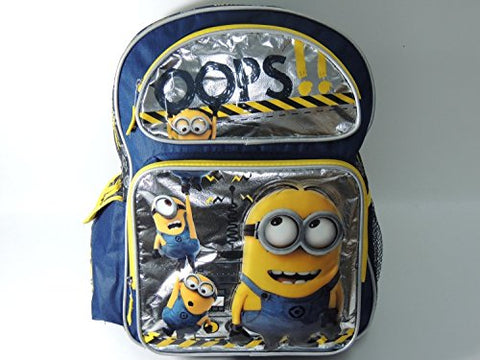 "Despicable Me 2 Minions Large School Backpack 16"" Book Bag - Oops!"