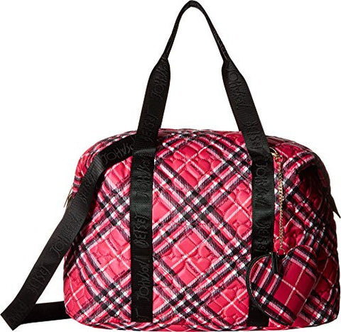 Betsey Johnson Women's Printed Backpack Fuchsia One Size
