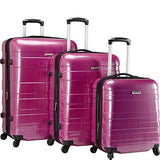 McBrine Luggage A736 ECO 3pc Set (Two tone purple)
