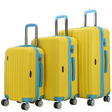 The Yellow Brio Thick Rib 3-Piece Hardside Spinner Luggage Set