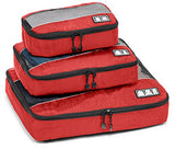 Premium 3pc Travel Orgenizer Packing Cube Set (Red)