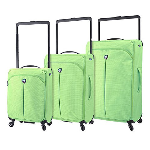 Mia Toro M1128-03pc-lim Italy Kitelite Nimbo Hardside Spinner Luggage 3pc Set, Lime