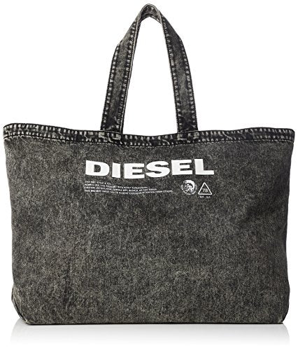 Diesel Men's THISBAGISNOTATOY D-THISBAG Shopper L-Shopping Bag, grey denim One Size