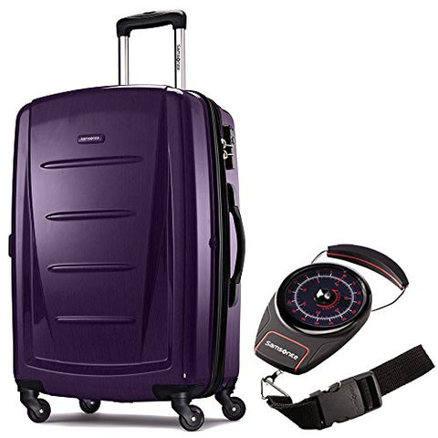 "Samsonite Winfield 2 Fashion HS Spinner 28"" Purple (56846-1717) Portable Luggage Scale Red/Black"