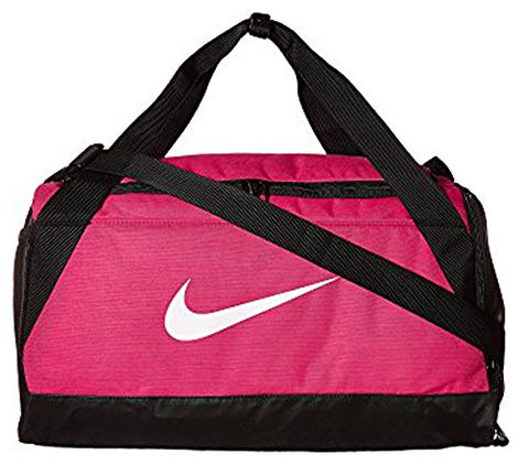 Nike Brasilia Training (Small) Duffel Bag (One Size, Rush Pink/Black/White)